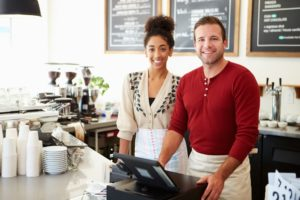 Couple running a cafe