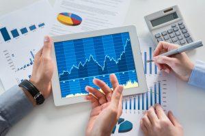 analyzing finances and charts